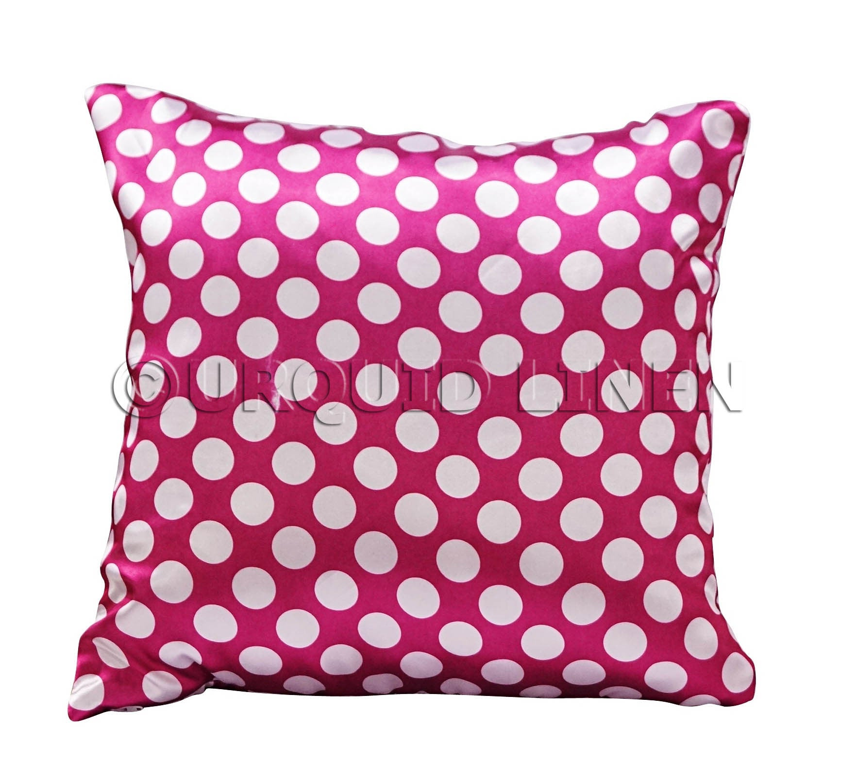 Polka Dot Charmeuse Satin Throw Pillow