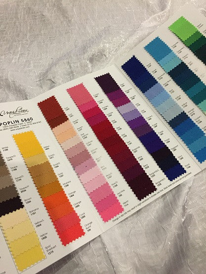 Premium Polyester (Poplin) Color Booklet