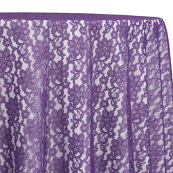 Classic Lace Table Linen in Purple 1258