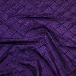"2"" Pintuck Taffeta Table Linens in Purple 059"