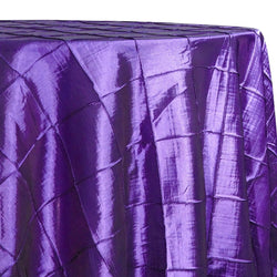 "4"" Pintuck Taffeta Table Linen in Purple 079"