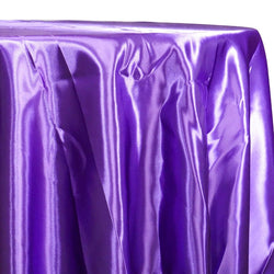 Bridal Satin Table Linen in Purple 393
