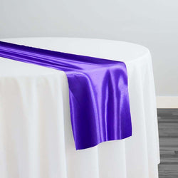 Bridal Satin Table Runner in Purple 658