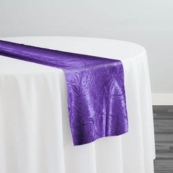 Crush Satin (Bichon) Table Runner in Purple 658