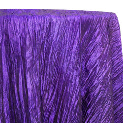 Accordion Taffeta Table Linen in Purple