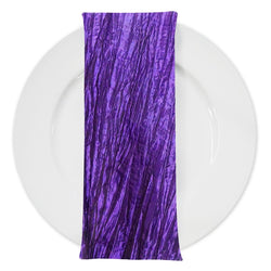 Accordion Taffeta Table Napkin in Purple