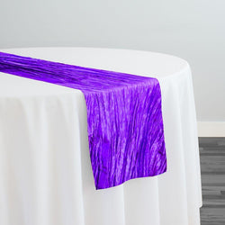 Accordion Taffeta Table Runner in Purple