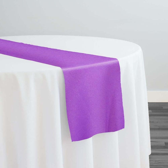 Lamour (Dull) Satin Table Runner in Purple 9685