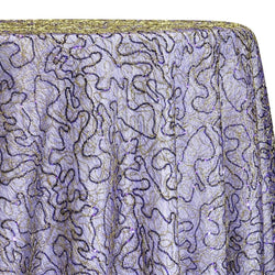 Bedazzle Table Linen in Purple and Gold