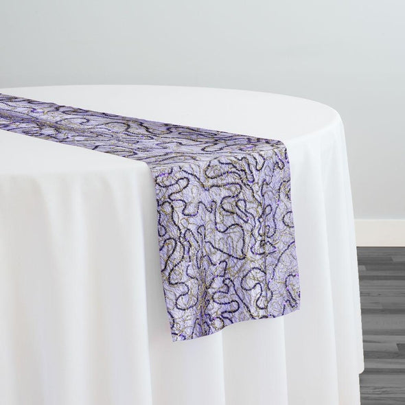 Bedazzle Table Runner in Purple Gold