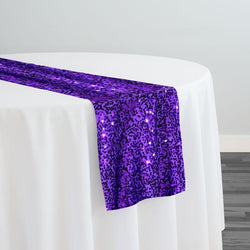 Taffeta Sequins Table Runner in Purple