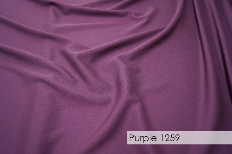 "70pcs - Polyester Poplin - 6""x108"" Sash w/ Straight Ends - Purple 1259"