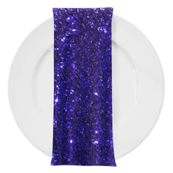 Glitz Sequins (w/ Poly Lining) Table Napkin in Purple