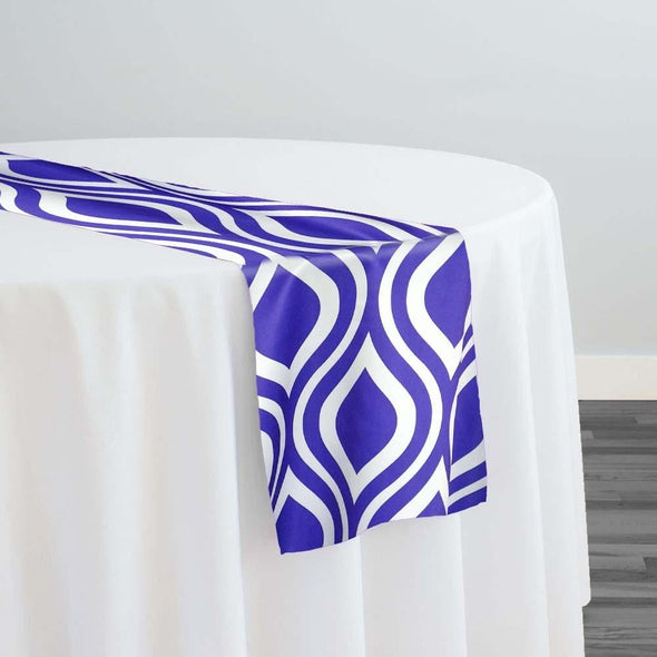 Groovy Print (Lamour) Table Runner in Purple