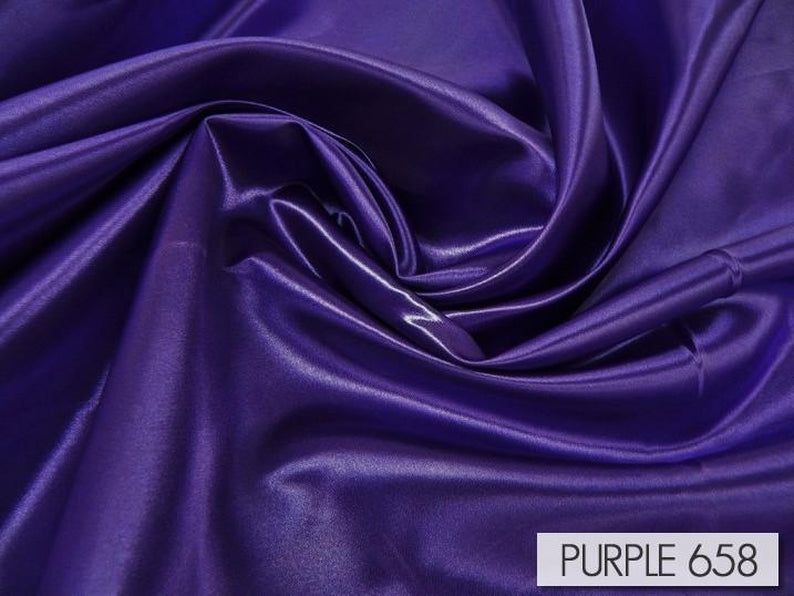 "100pcs - Bridal Satin - 6""x108"" Sash w/ Straight Ends - Purple 658"