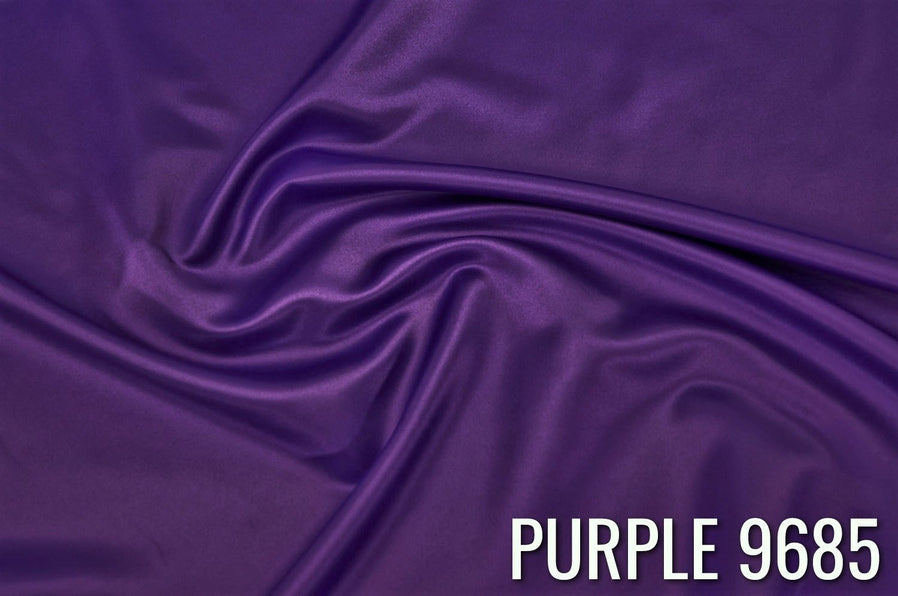 "43pcs - Lamour Dull Satin - 10""x108"" Sash w/ Straight Ends - Purple 9685"