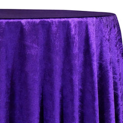 Lush Velvet Table Linen in Purple