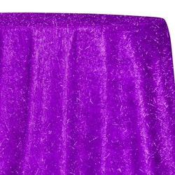String Metallic Table Linen in Purple