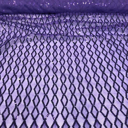 Vortex Sequins Table Linen in Purple