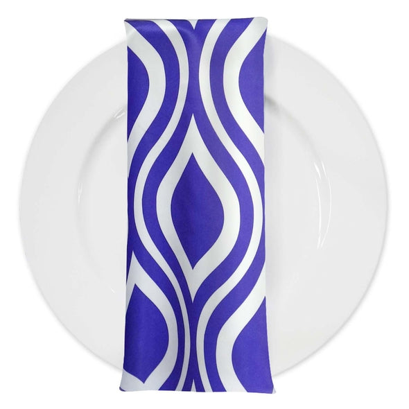 Groovy Print Lamour Table Napkin in Purple