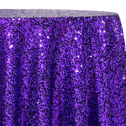 Taffeta Sequins Table Linen in Purple