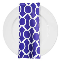 Halo Print Lamour Table Napkin in Purple