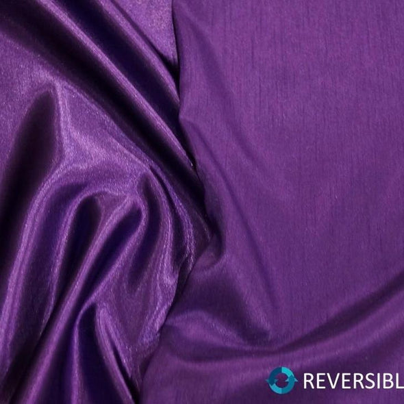 Shantung Satin (Reversible) Table Linen in Purple