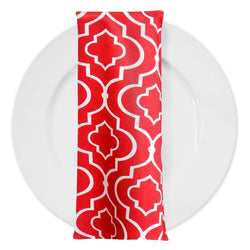 Gatsby Print (Lamour) Table Napkin in Red