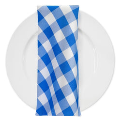 Polyester Checker (Gingham) Table Napkin in Royal