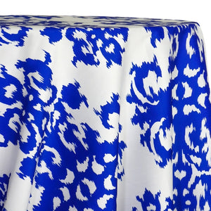 Newport Print (Dupioni) Table Linen in Royal