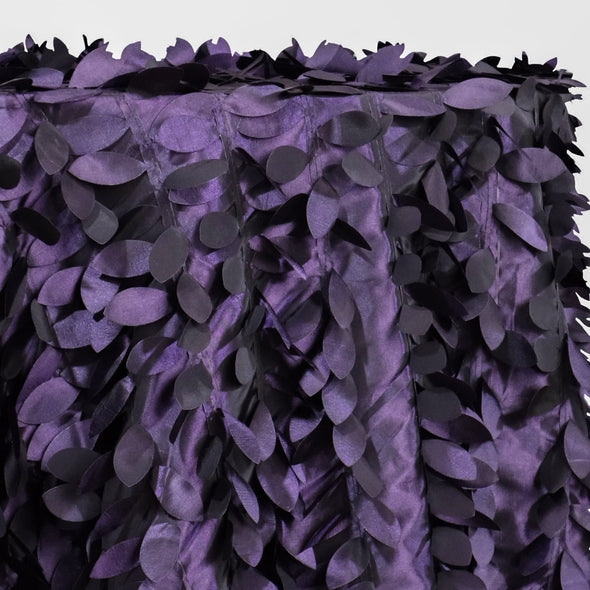 Leaf Hanging Taffeta Table Linen in Raisin
