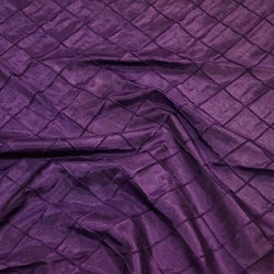 "2"" Pintuck Taffeta Table Runner in Raisin 056"