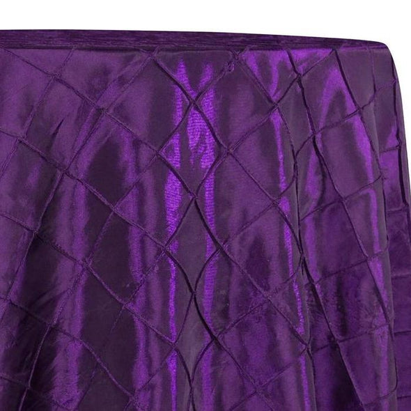 "2"" Pintuck Taffeta Table Linens in Raisin 056"