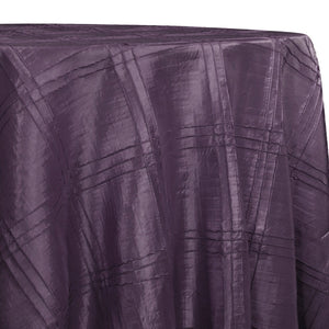 Triple Pleat Pintuck Table Linens in Raisin
