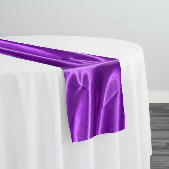 Bridal Satin Table Runner in Raisin 356