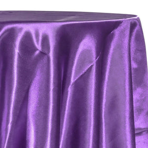 Bridal Satin Table Linen in Raisin 356