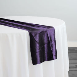 "4"" Pintuck Taffeta Table Runner in Raisin 356"