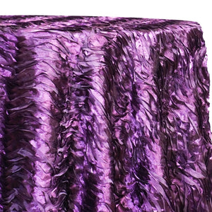 Austrian Wave Satin Table Linen in Raisin