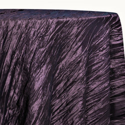Accordion Taffeta Table Linen in Raisin