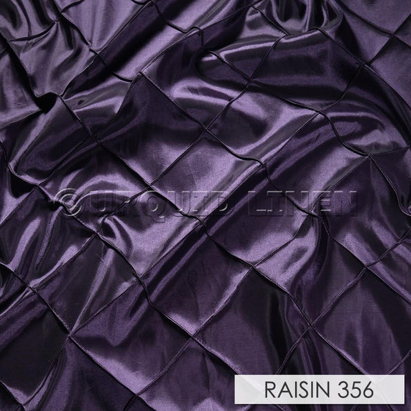 "179pcs - 4"" Pintuck - 8""x108"" Sash w/ Slanted Ends - Raisin"