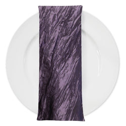 Accordion Taffeta Table Napkin in Raisin