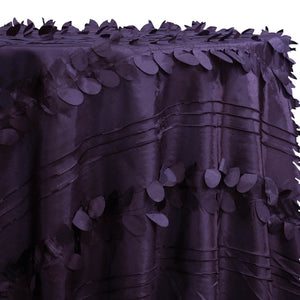 Diagonal Taffeta Table Linen in Raisin