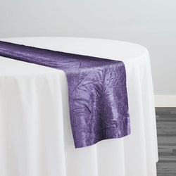 Crush Satin (Bichon) Table Runner in Raisin 356