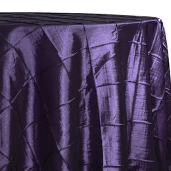 "4"" Pintuck Taffeta Table Linen in Raisin 356"