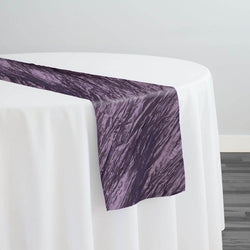 Accordion Taffeta Table Runner in Raisin