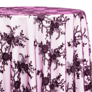 Laylani Lace Table Linen in Raisin