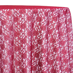 Classic Lace Table Linen in Red 1392