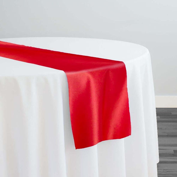 Lamour (Dull) Satin Table Runner in Red 1190