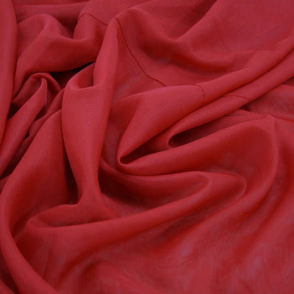 Voile Wholesale Fabric in Red 1193