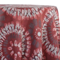 Sundaze Jacquard (Reversible) Table Linen in Red and Black